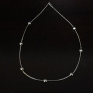 """EUC 16"""" Sterling Bead Station Necklace"""